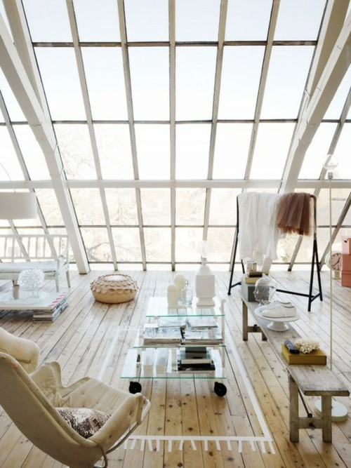 Living-room-with-a-glass-wall
