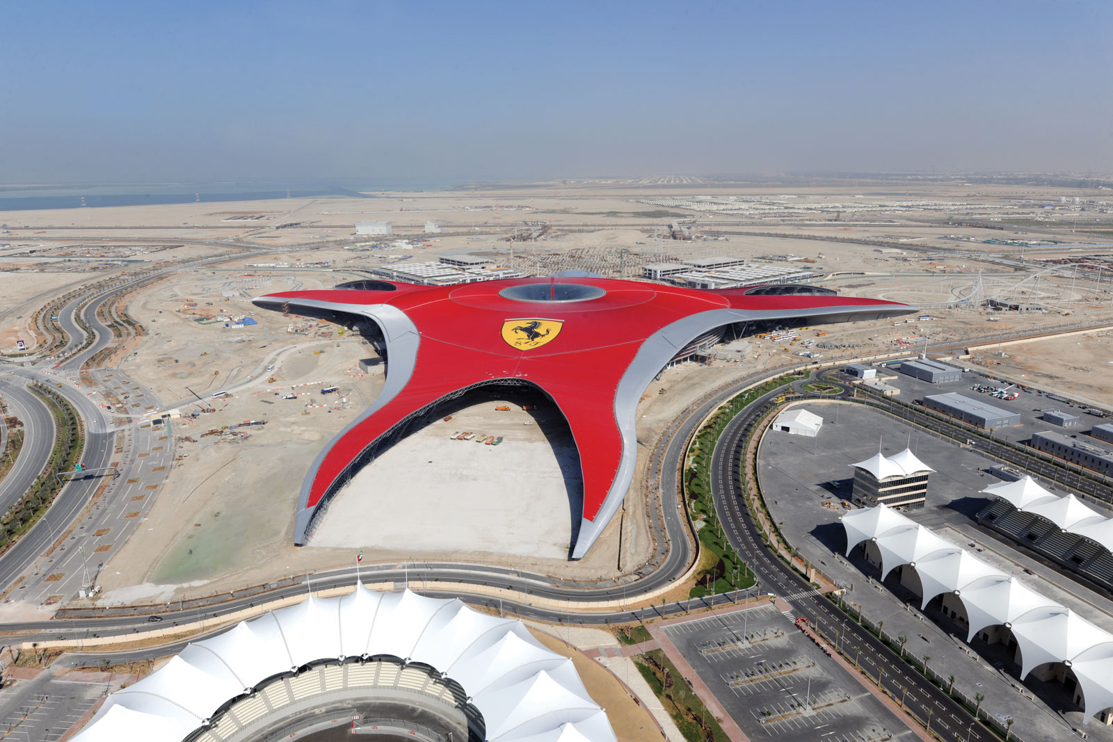 ferrari world abu dhabi uae by benoy awesome architecture. Black Bedroom Furniture Sets. Home Design Ideas