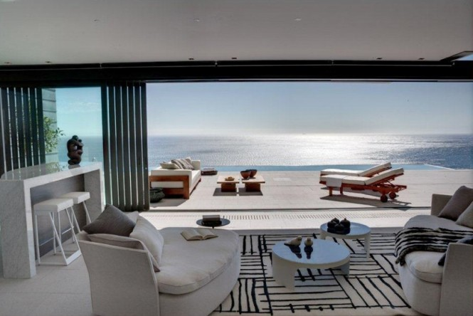 Sensational doesn t even begin to describe it clifton - Modern black and white living room ...